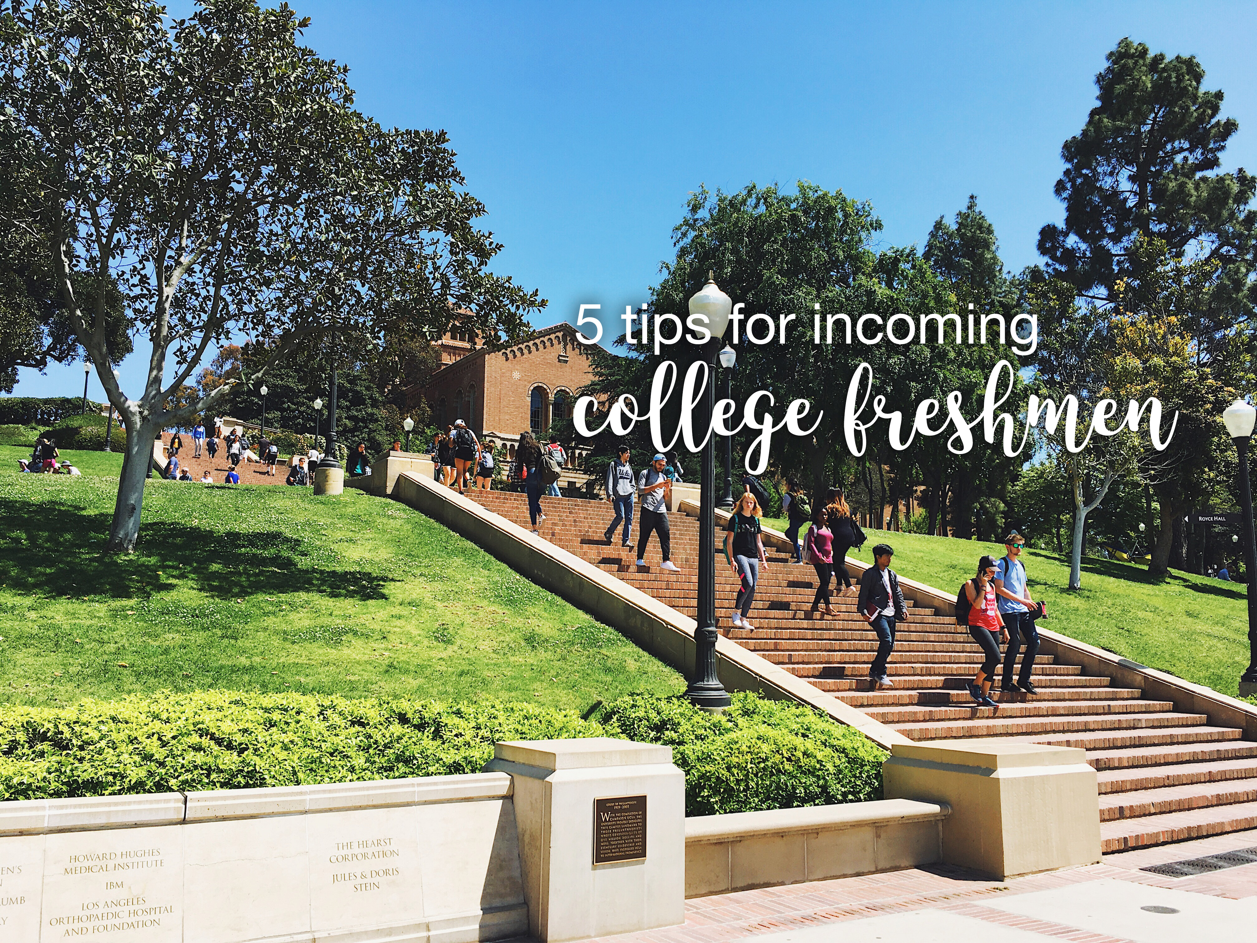 tips for incoming college freshmen